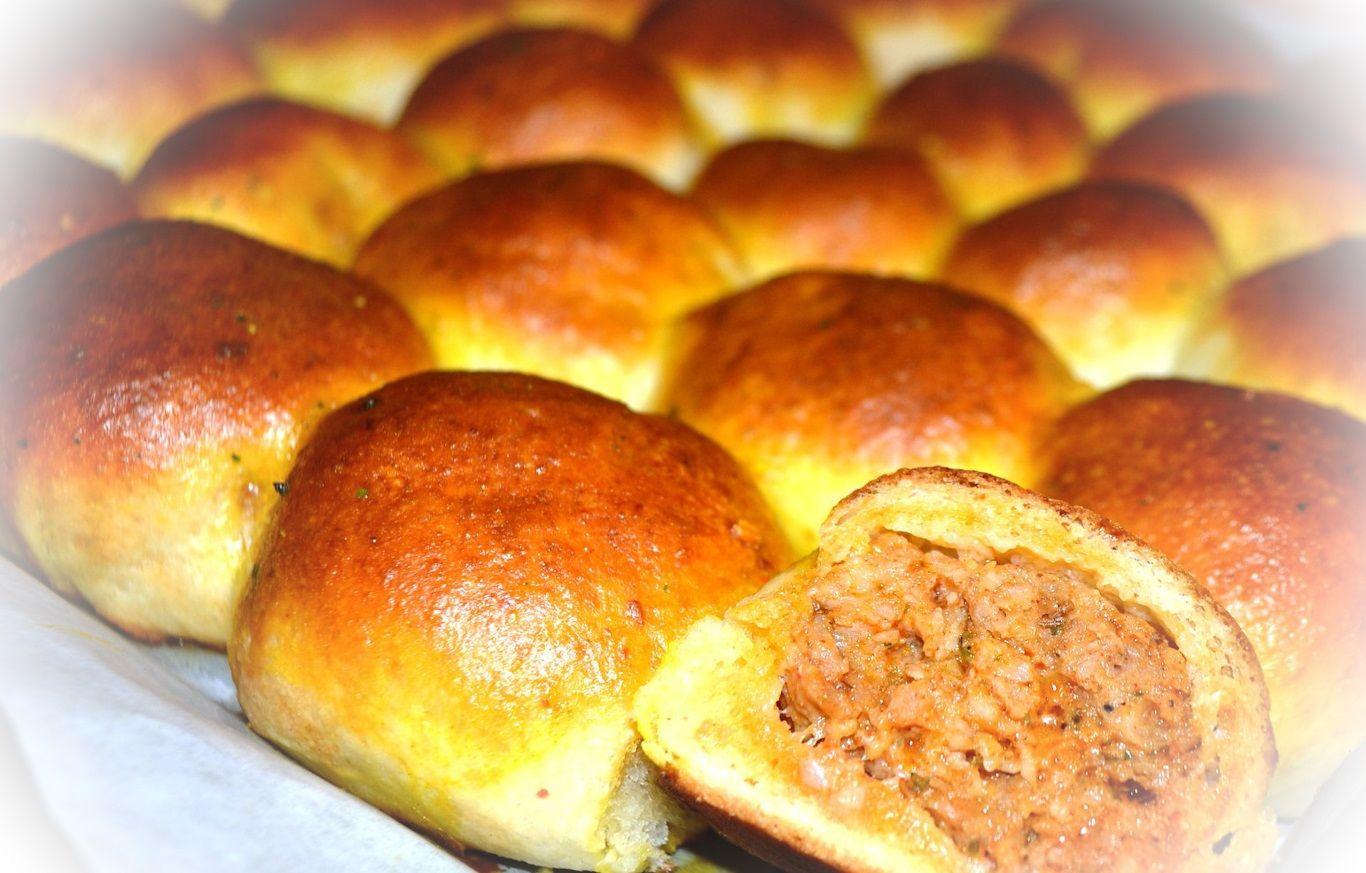 Recept na mäskom plnené buchtičky