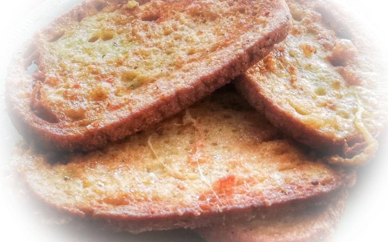 Chlebíky pražené vo vajíčku