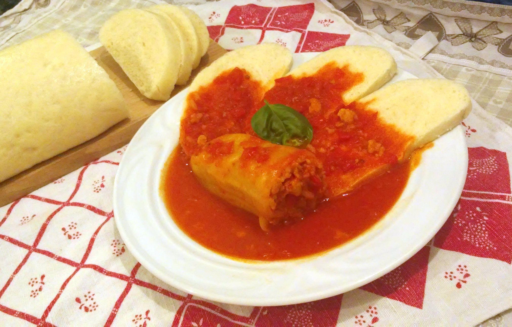 Bezmäsitá plnená paprika s knedľou - tempeh namiesto mäsa